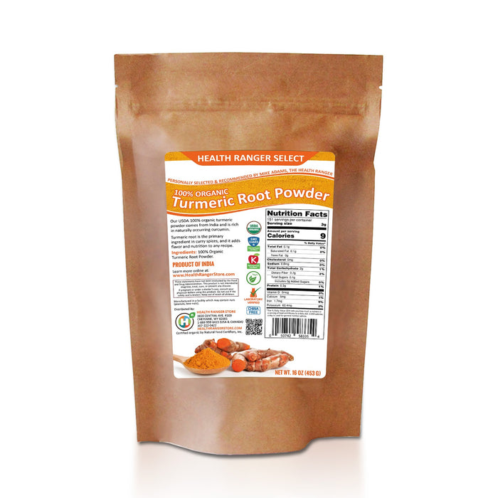 100% Organic Turmeric Root Powder (16oz) (6-Pack)