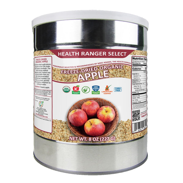 Freeze Dried Organic Apple 3/8 Diced (8oz, #10 can)