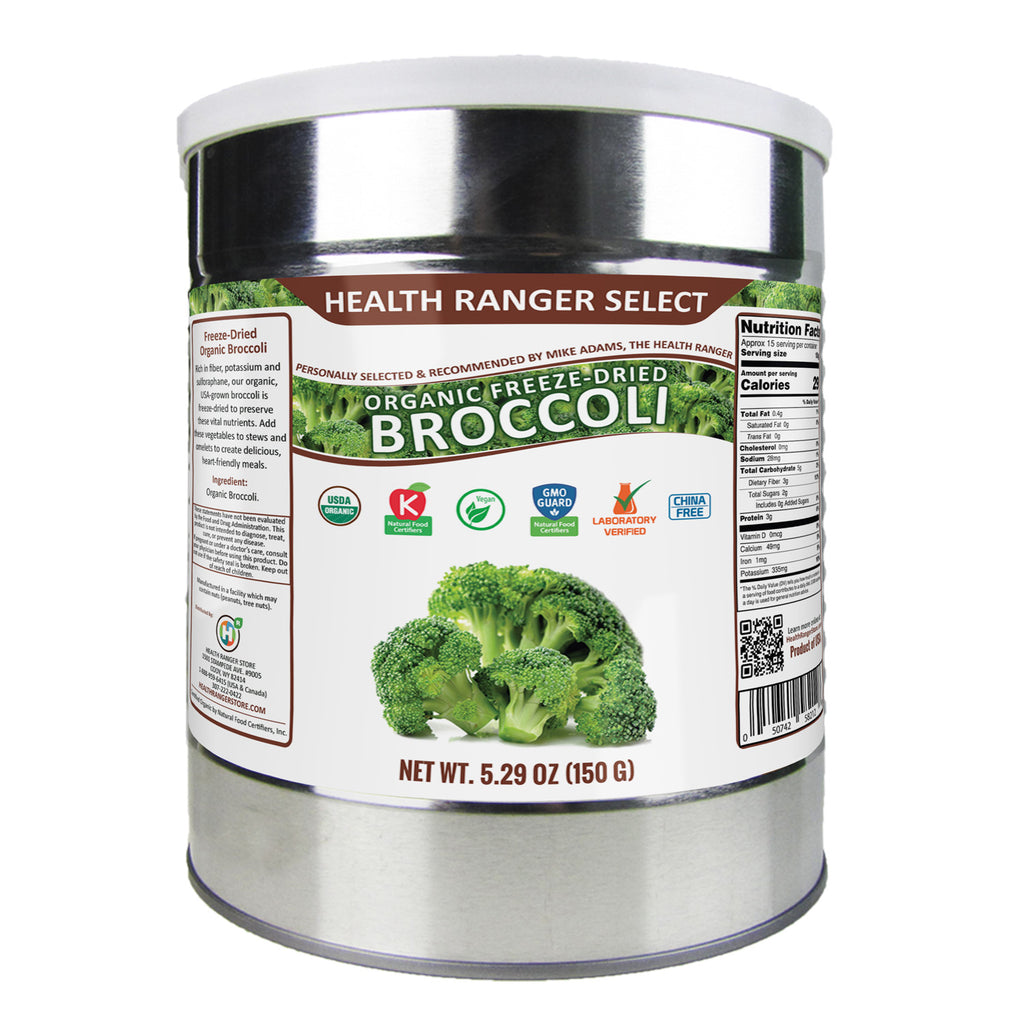 Freeze-Dried Organic Broccoli 5.29oz (#10 Can, 150g)