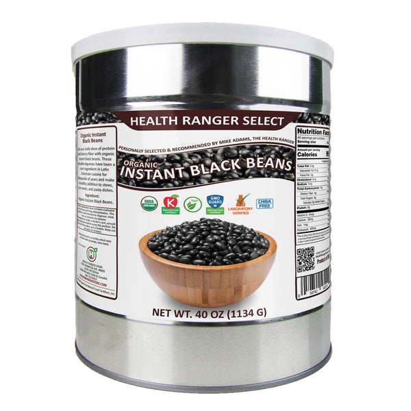 Organic Instant Black Beans 40oz (#10 Can, 1134g)