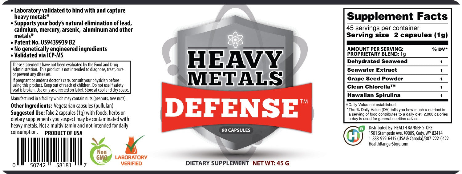 Heavy Metals Defense 90 Caps
