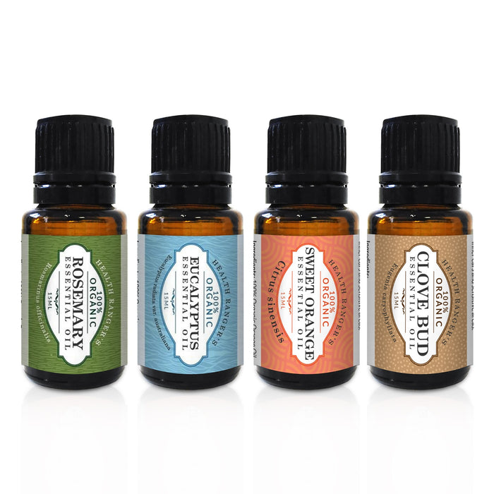 100% Essential Oils 15ml (4-Pack Gift Set C)
