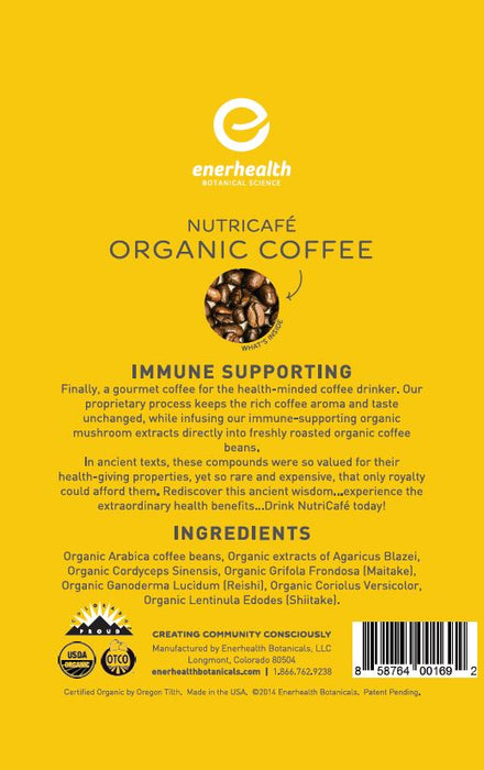 Nutricafe Organic Immune Support Coffee (6-Pack)