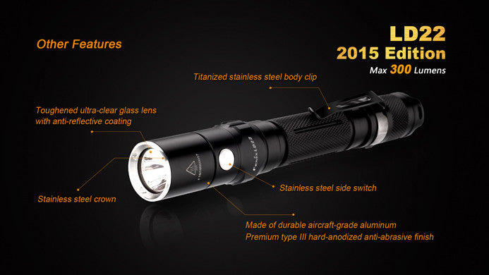 Fenix LD22 Flashlight [Max 300 Lumens]