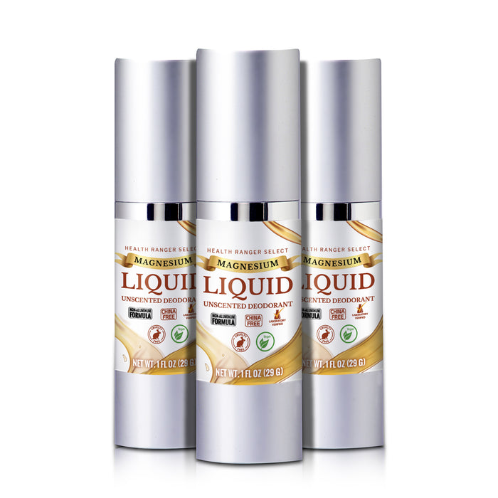 Magnesium Liquid Unscented Deodorant 1fl oz (29g) (3-Pack)