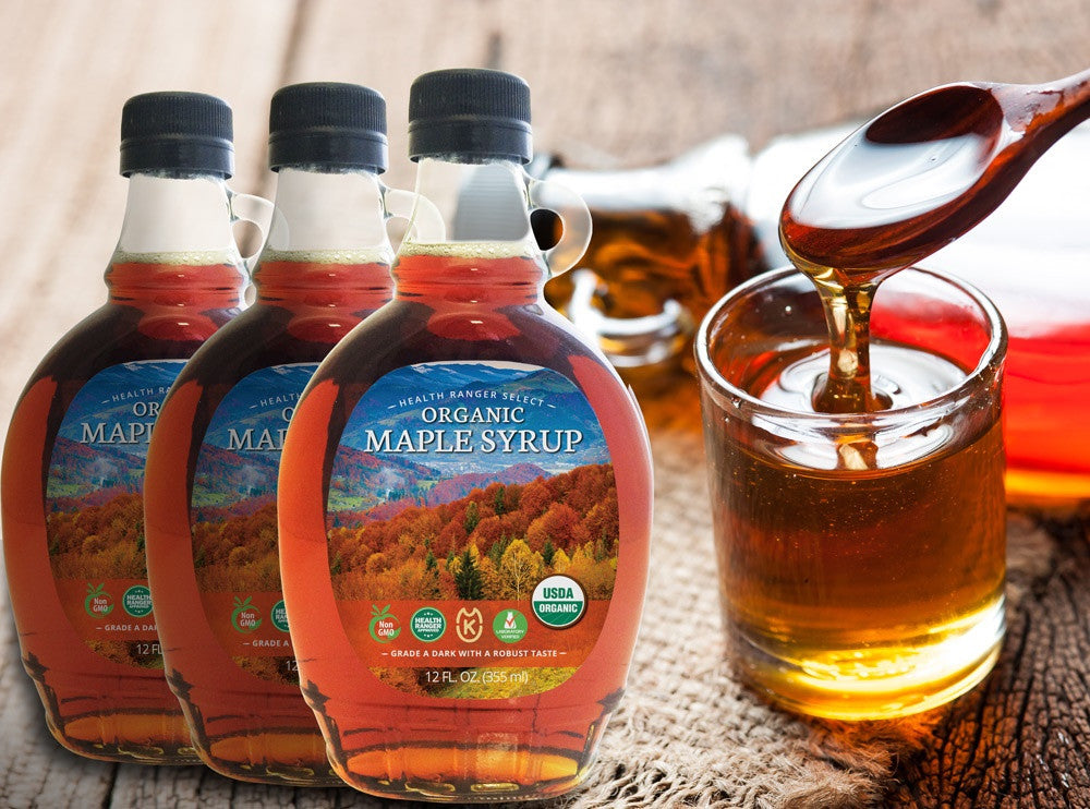 Organic Maple Syrup 12oz - Grade A (355ml) (3-Pack)