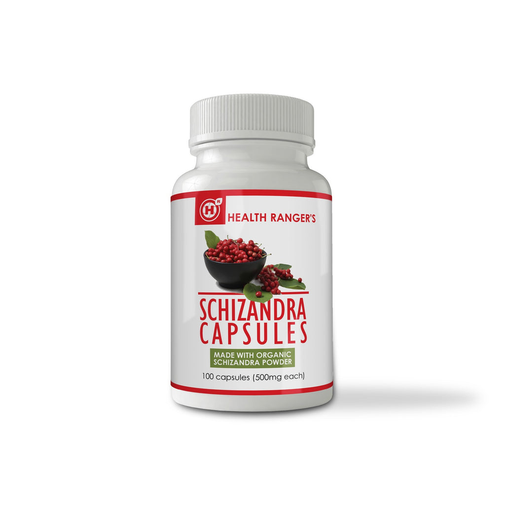 Schizandra capsules 100 caps (500mg each) (Made With Organic Ingredients)
