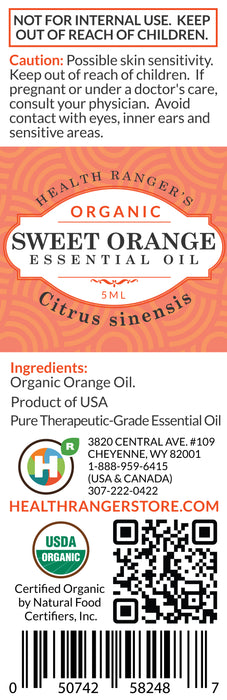 Organic Sweet Orange Essential Oil (5ml)