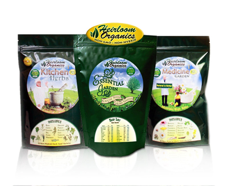 Purchase an Essential Garden kit, Family Kitchen Herb Pack & Family Medicine Herb  Pack