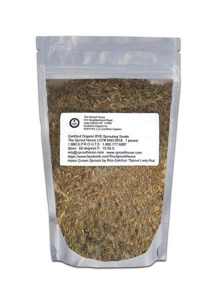 Rye Certified Organic Non-GMO Sprouting Seeds- 2Lb