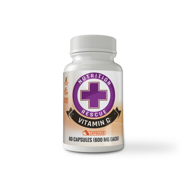 Health Ranger's Nutrition Rescue Non-GMO Vitamin C 60 caps (600mg each)