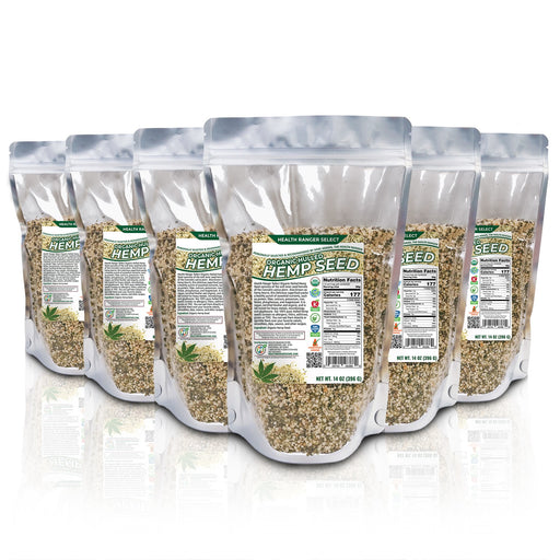 Organic Hulled Hemp Seed 14oz (396g) (6-Pack)