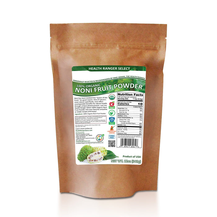 100% Organic Noni Fruit Powder 12oz (340g)
