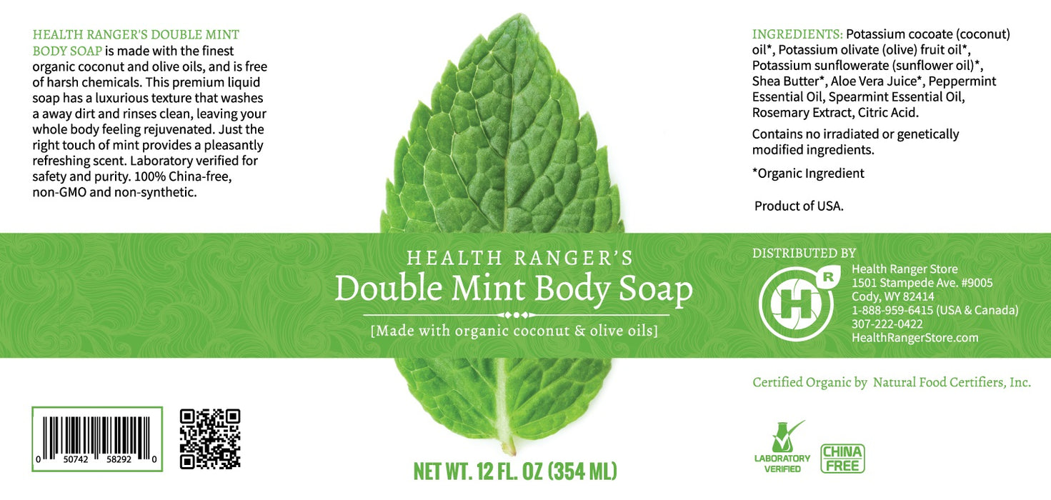 Health Ranger's Double Mint Body Soap 12oz