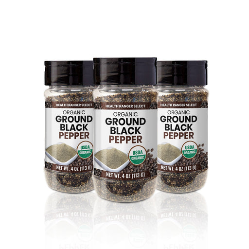 Organic Ground Black Pepper 4oz (113g) (3-Pack)