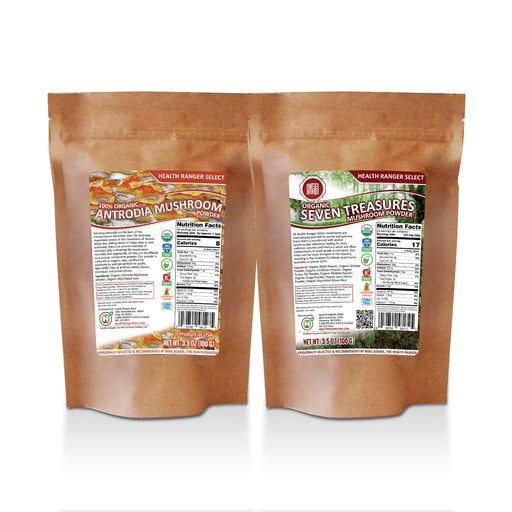 Organic Seven Treasures + Organic Antrodia Mushroom Powder Combo Pack