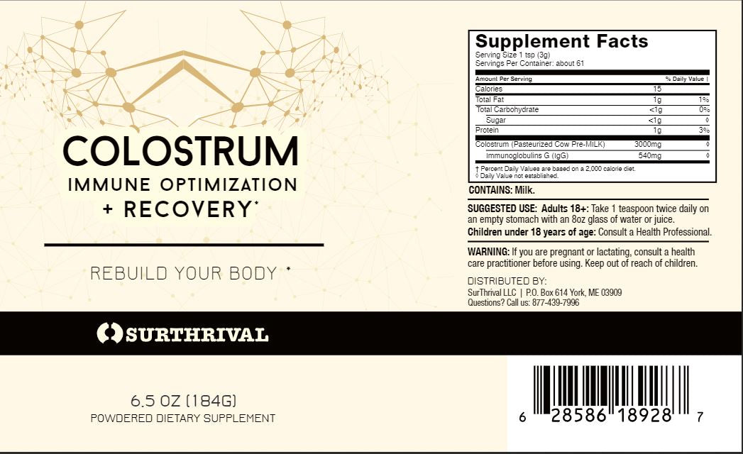 Colostrum (6.5oz, 184g)