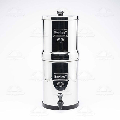 Travel Berkey Water Filtration System with 2 Black Berkey Filters (Great For 1-3 People: 1.5 Gallons capacity)