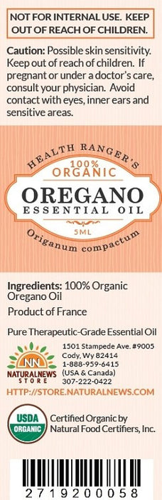 100% Organic Oregano Essential Oil (5ml)
