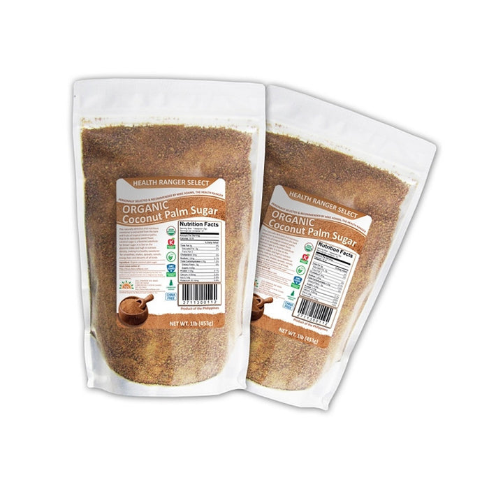 Organic Coconut Palm Sugar 1lb (453g) (2-pack)
