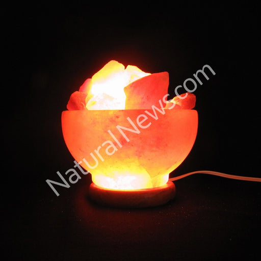 Himalayan Crystal Salt FIRE BOWL with iron grate