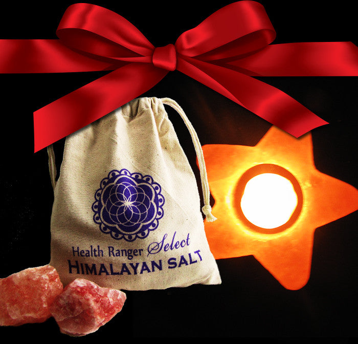 Valentines Pack G - Bath salt with cloth bag + Himalayan Crystal Salt Tea Light STAR shape