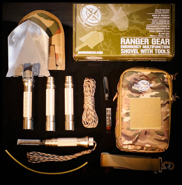 Ranger Gear Emergency Multifunctional Shovel with Tools