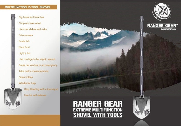 Ranger Gear Extreme Multifunction Shovel with Tools