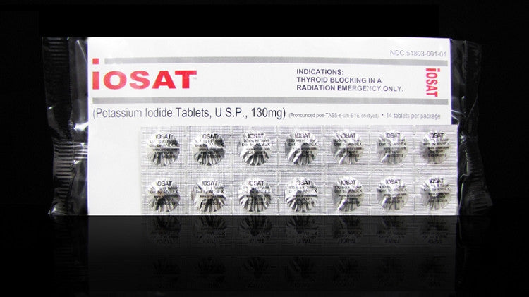 iOSAT Potassium Iodide Tablets 130 mg (FDA approved)