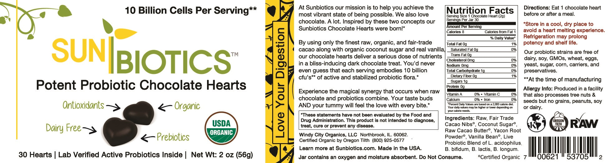 Potent Probiotic Chocolate Hearts Size: 30