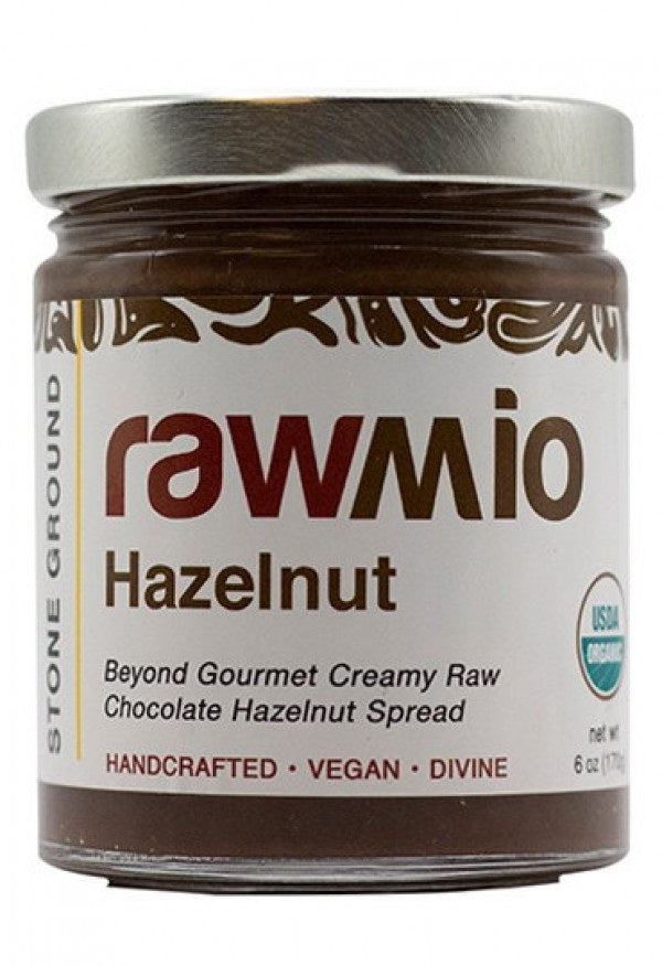 Rawmio Hazelnut - Beyond Gourmet Creamy Raw Chocolate Hazelnut Spread 6oz