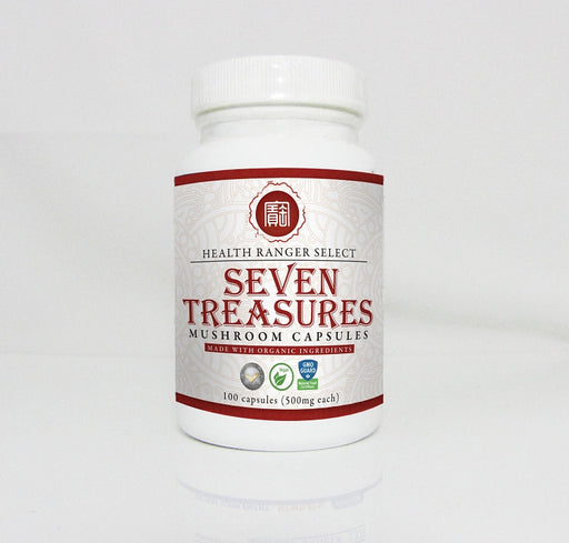 Seven Treasures Mushroom 100 caps (500mg) (Made With Organic Ingredients)