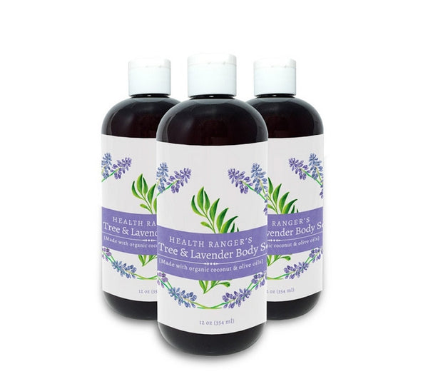 Health Ranger's Tea Tree and Lavender Body Soap 12oz (3-Pack)
