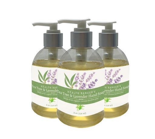 Health Ranger's Tea Tree and Lavender Hand Soap 8oz (3-Pack)