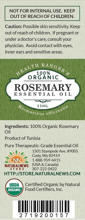 100% Organic Rosemary Essential Oil 0.5oz (15ml)