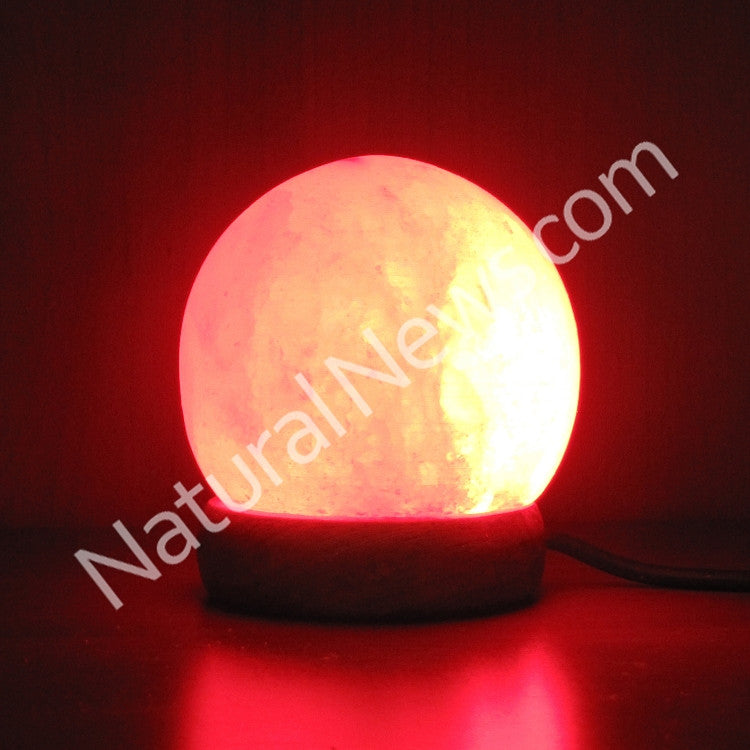 Do Salt Lamps Work With Led : USB-powered LED Himalayan Salt Lamp SPHERE shape Health Ranger Store