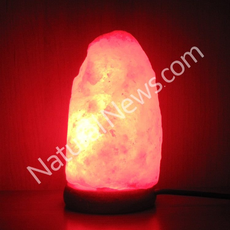 USB-powered LED Himalayan Salt Lamp NATURAL shape