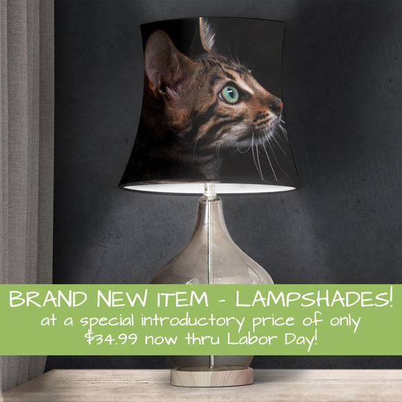 Brand new item - Lampshades! at a special introductory price of only $34.99 now thru Labor Day!