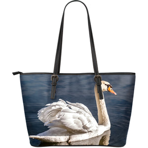 Swan Large Leather Tote Bag