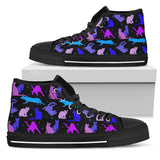 Blue Cats High Top Shoes