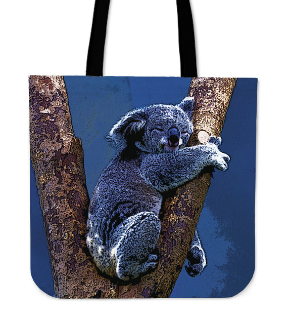Blue Koala Cloth Tote Bag