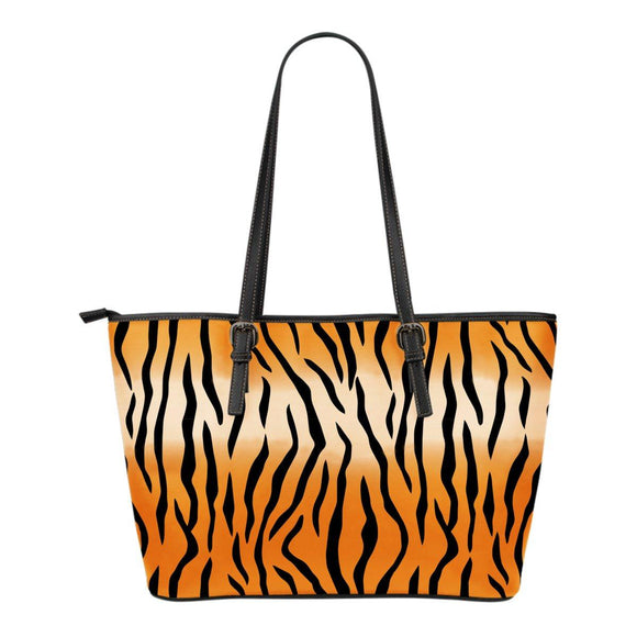 Tiger Stripes Leather Tote Bag