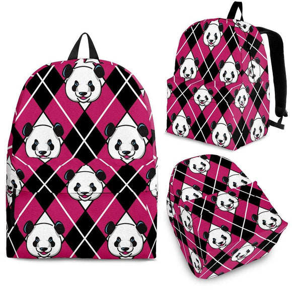 Panda Argyle Backpack