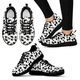 Black Cat Print Mens and Womens Sneakers
