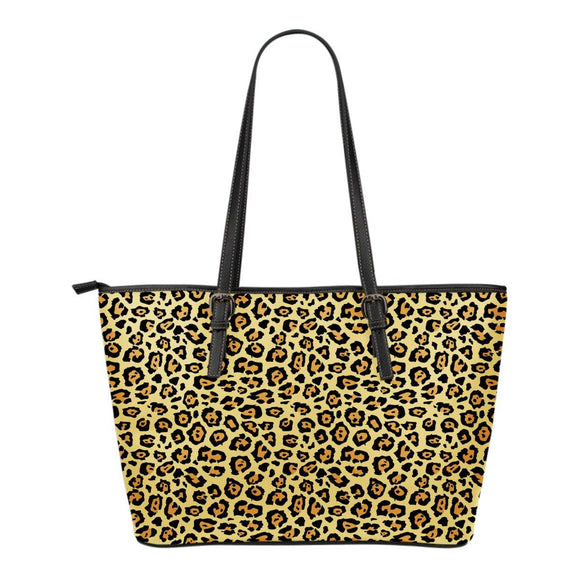 Jaguar Print Leather Tote Bag