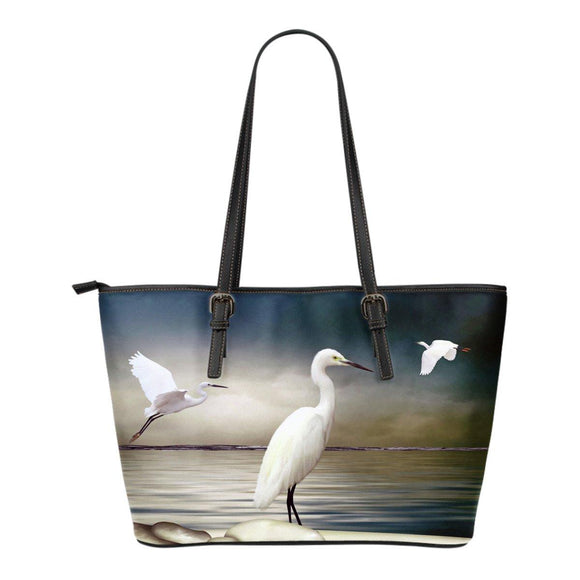 Heron Leather Tote Bag