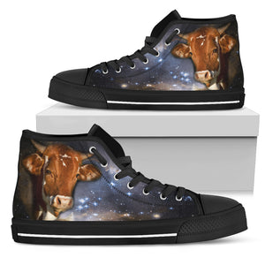 Galaxy Cow High Top Shoes