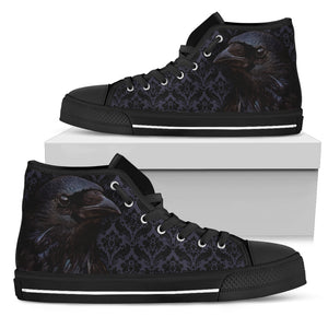 Raven Flocking High Top Shoes