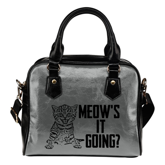 Meow's It Going Eco-Leather Shoulder Handbag