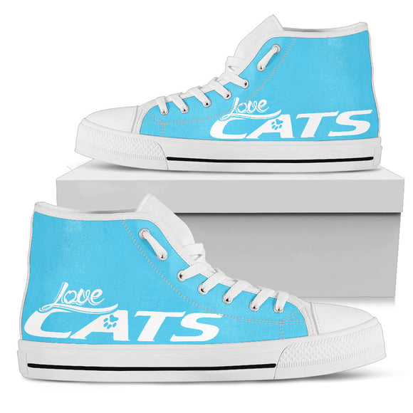 Love Cats Blue Women's High Top